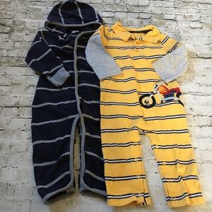 Bundle of GUC Toddler Jumpsuits.
